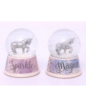 2 Pieces Unicorn snow globe show piece decor - B48