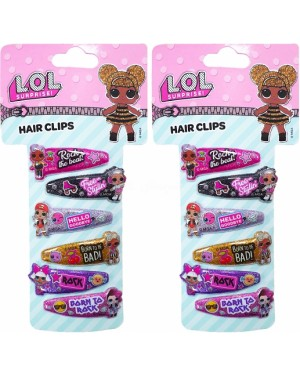 Official L.O.L. Surprise! Character 6 Pack PVC Hair Clip Set with Doll Icons - Brand new