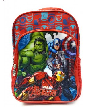 Official Marvel Avengers Character Deluxe Junior School Backpack with Extra Front Pocket B10- Brand new