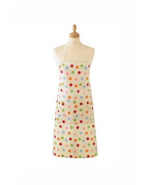 Spots Design 100% Cotton Apron with Front Pocket by Cooksmart - B31