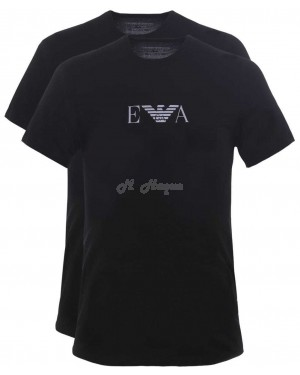 Emporio Armani 2 Pack T-Shirts BLACK-s