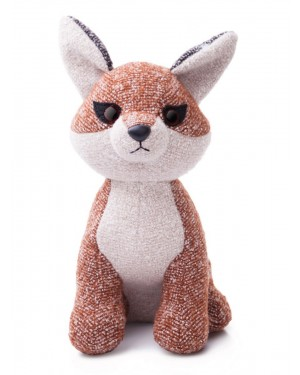 AURORA WORLD FABBIES FOX PLUSH TOY(SMALL, LIGHT BROWN/WHITE)