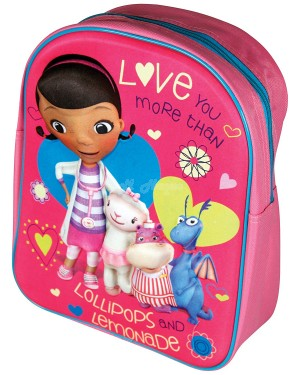 Official Disney Doc McStuffins 3D EVA Junior School Backpack B14, S2R4C4C3, S2R3C3, B25