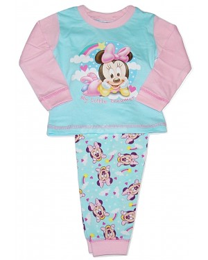 "Girls Toddler Official Disney ""Minnie Mouse"" Character Pyjama Set - B48"