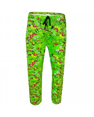 "Men's Official Disney The Muppets ""Kermit"" Character Lounge Trouser Pants B16, 25"