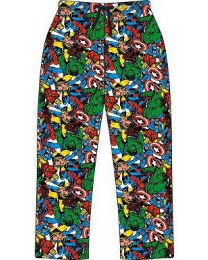 Ex Chain store Men's Official Marvel Comics Character Trouser Lounge Pants - B30-xl