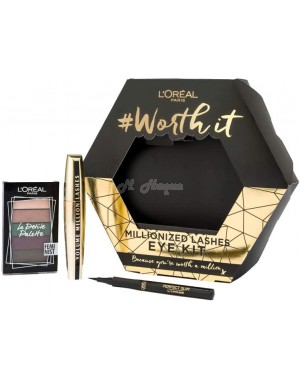 L'Oreal Worth It Eye Kit Trio ( Mascara, Shadow and Eyeliner ) Gift Set - Brand new