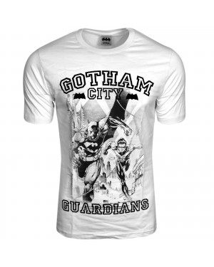 "Men's Official Batman ""Gotham City Guardians"" Character T Shirt-l"
