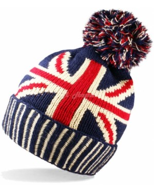 Unisex Adults Union Jack Design Bobble Hats by Handy Glove B10 - Brand new