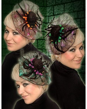 Halloween Creepy Spider Fascinator Clip on Hair Piece - B30