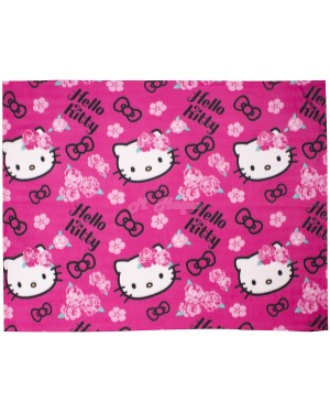 Official Hello Kitty Sommerwind Character Fleece Blanket Snuggle Throw B21