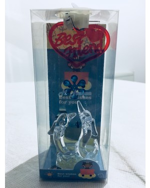 Best friend 2 dolphin with blue flower decoration with LED light S2R2C3