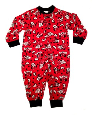 Girls Disney Minnie Mouse Character All-In-Ones Pyjamas set or nightwear suit-18-24 months