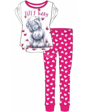 Ladies Official Me To You Tatty Teddy S/Sleeve Top & Cuffed Lounge Pant Pyjama Set UK 8-10 B48-UK 16-18