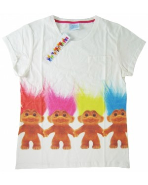 Ladies Official Trolls Varsity Character T Shirt-l