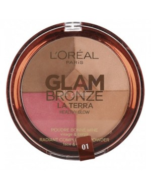 Loreal Glam Bronze Terra Healthy Glow 4in1 01 Light - Brand new