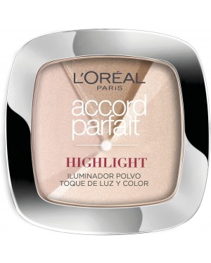 L'Oreal Accord Parfait Powder Glow Illuminating Highlighter 202N Rosy Glow - Brand new
