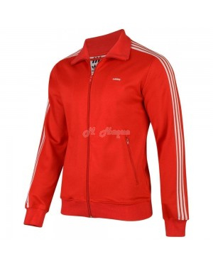 Mens adidas Originals Mens Beckenbauer Track Red-l s2r4,5c1, S2R5C1, B22