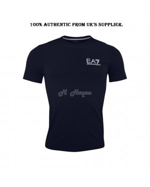 Armani Men's EA7 Logo crew neck, short sleeve T-Shirt, Navy blue