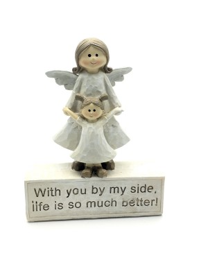 Mother and daughter angels house decor - B48