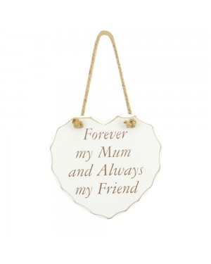 Mum my friend white wooden plaque wall decor - B48