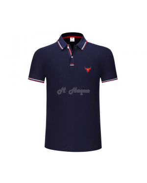 New UK's Branded MHaque Men's short sleeve polo shirt-Navy-Large
