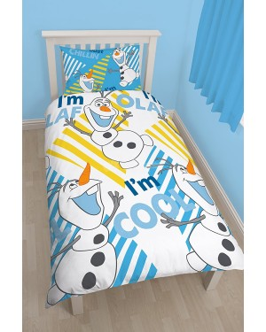 "Disney Frozen Chillin ""Reversible"" Single Duvet Cover Bedding Set B1,10,23"