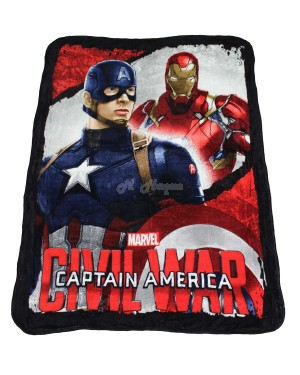 "Official Marvel Captain America ""Civil War"" Character Coral Fleece Blanket Snuggle Throw"
