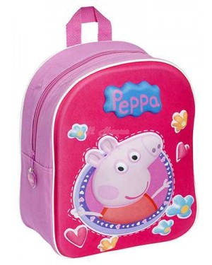 Official Peppa Pig 3D EVA Junior School Backpacks S2R3C4