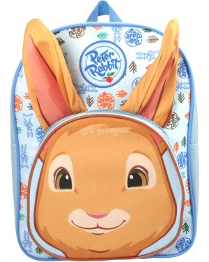 Official Peter Rabbit Character 3D Plush Ears Junior School Backpack B6 - Brand new
