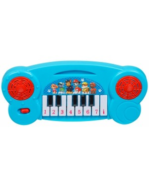 "PWP-3074 Official PAW Patrol ""Chase, Marshall & Rubble"" Mini Electronic Keyboard Piano musical toy - Blue B24"