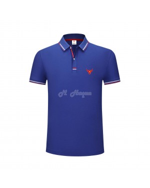 New UK's Branded MHaque Men's short sleeve polo shirt-Royal Blue-Medium