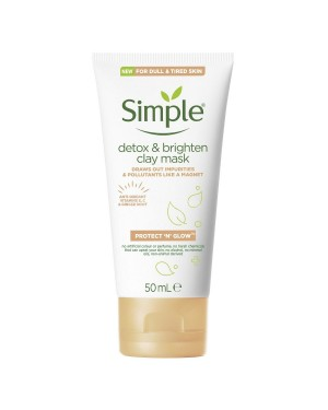 Simple Detox & Brighten Clay Mask (50ml) - Brand new
