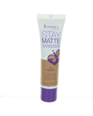 Rimmel Stay Matte Liquid Mousse Foundation 402 Bronze B46