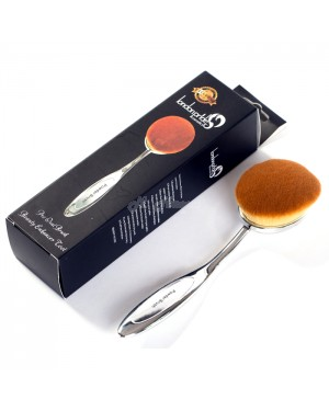 London Pride Pro Oval Powder Brush - (Silver) B45