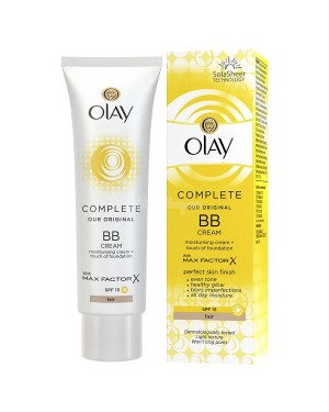 Olay Essentials BB Cream Complete Care with Touch of Foundation with Max Factor Skin Moisturiser - Light (50ml) B46