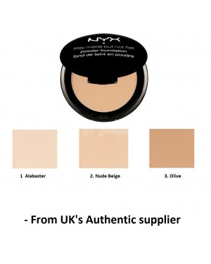 NYX Stay Matte But Not Flat Powder Foundation in 2 shade Brand new & Authentic-Alabaster
