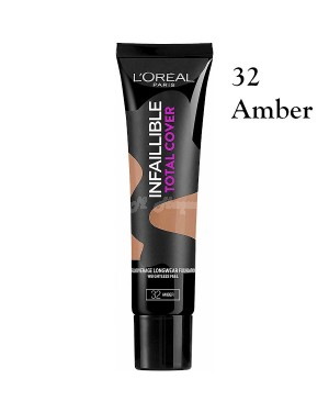 L'Oreal Infallible Total Cover Foundation 32 Amber Brand new & Authentic