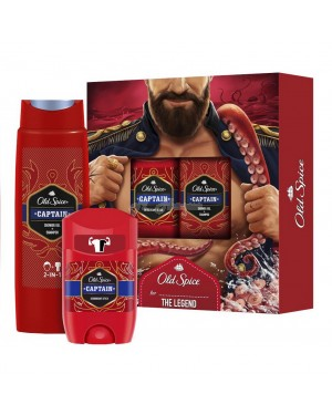 Old Spice Captain - Deodorant Stick (50ml) and 1x Shower Gel + Shampoo (250ml) Gift Set - Brand new