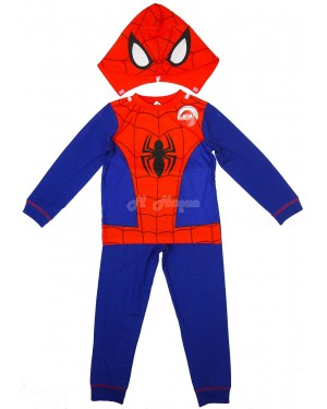 "Marvel Comics ""Spider-Man"" Novelty Costume Pyjamas with Hood -5-6 years"