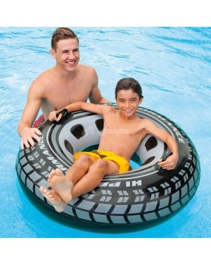 "Mega XXL 45"" Monster Truck Tyre Turbo Tube Inflatable Swim Ring with Handles"