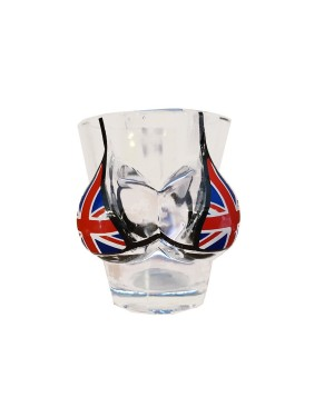 UNION JACK BOOBS SHOT GLASS little mug B5,8,10,19
