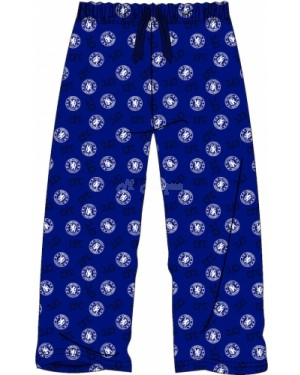 Men's Official Chelsea FC Football Team Club Lounge Trouser Pants - Brand new & Authentic-X-Large
