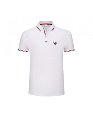 New UK's Branded MHaque Men's short sleeve polo shirt-White-Large