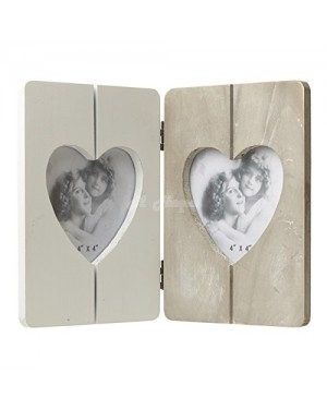 Wooden Double Heart Photo Frame 29cm