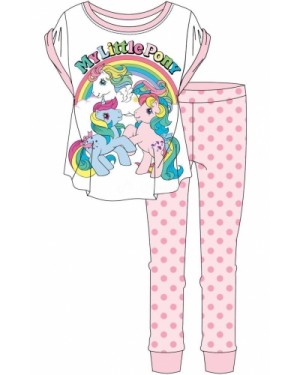 "Ladies Official ""My Little Pony"" S/Sleeve Top & Cuffed Lounge Pant Pyjama Set - Brand new-UK8-10"